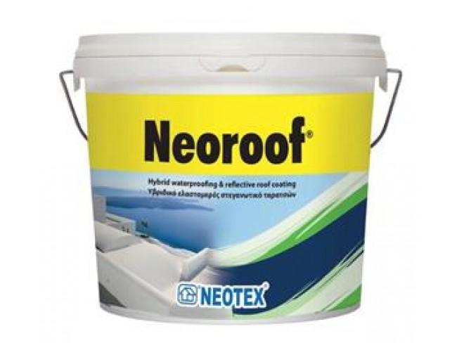 NEOTEX - NEOROOF - 13kg - ΛΕΥΚΟ - Υβριδικό ελαστομερές στεγανωτικό ταρατσών νέας τεχνολογίας (UV Curable).