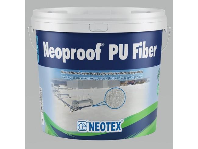 NEOTEX - Neoproof PU Fiber - 13kg - ΛΕΥΚΟ - Ινοπλισμένο, στεγανωτικό ταρατσών, βάσης πολυουρεθάνης νερού, ενός συστατικού.