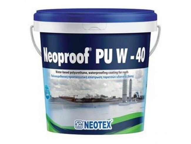 NEOTEX - Neoproof PU W -40ºC - 13kg - ΛΕΥΚΟ - Επαλειφόμενη πολυουρεθανική μεμβράνη νερού έως -40ºC.