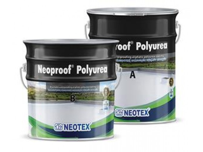 NEOTEX - Neoproof Polyurea - 21kg (Α+Β) - ΛΕΥΚΟ - Επαλειφόμενο στεγανωτικό αλειφατικής πολυουρίας, δύο συστατικών.