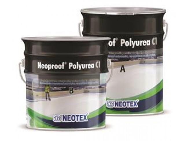 NEOTEX - Neoproof Polyurea C1- 20kg (A+B) - ΛΕΥΚΟ - Επαλειφόμενο στεγανωτικό πολυουρίας υψηλού πάχους, ιδανικό για εκτεθειμένες ταράτσες όπου απαιτούνται υψηλές μηχανικές αντοχές.