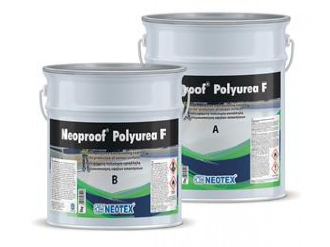 NEOTEX - Neoproof Polyurea F - 19kg (A+B) - ΛΕΥΚΟ - Δύο συστατικών επαλειφόμενη βραδύκαυστη πολυουρία.