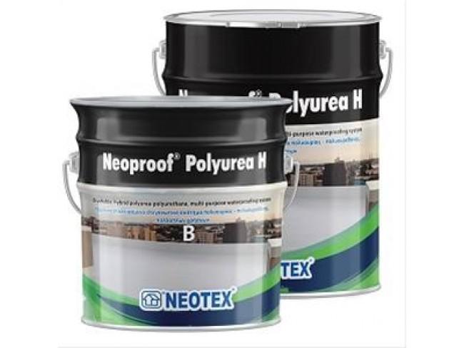 NEOTEX - Neoproof Polyurea H - 20kg  (A+B) - ΜΠΕΖ - Υβριδικό, επαλειφόμενο, ελαστομερές στεγανωτικό σύστημα πολυουρίας - πολυουρεθάνης, δύο συστατικών.