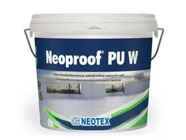 NEOTEX - Neoproof PU W - 13kg - ΛΕΥΚΟ - Επαλειφόμενη, πολυουρεθανική, αλειφατική μεμβράνη νερού.