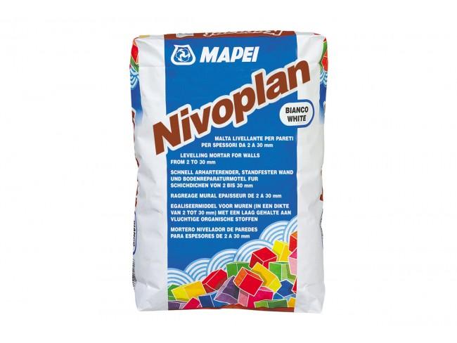 MAPEI - NIVOPLAN - ΛΕΥΚΟ 25kg - Τσιμεντοκονίαμα επιπέδωσης για τοίχους και οροφές, εσωτερικά και εξωτερικά.