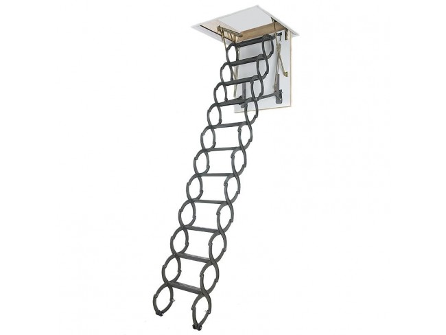 Μεταλλική πτυσσόμενη σκάλα οροφής Silver LST - FAKRO.