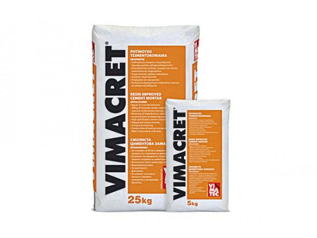 VIMATEC - VIMACRET - 25kg - Έτοιμο ρητινούχο επισκευαστικό τσιμεντοκονίαμα.