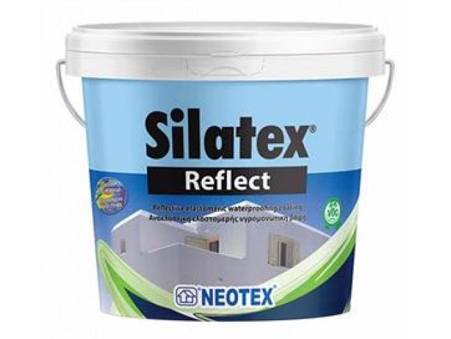 NEOTEX - Silatex Reflect - 10lt - ΛΕΥΚΟ - Ανακλαστική ελαστομερής υγρομονωτική βαφή με θερμομονωτικές ιδιότητες.
