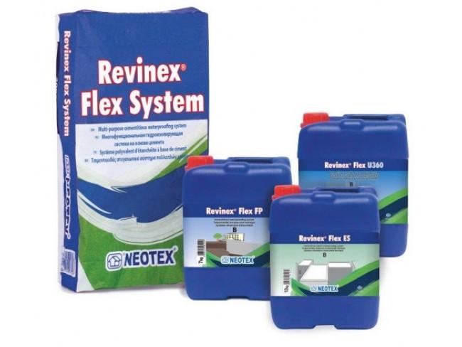 NEOTEX - Revinex Flex System FP - 32kg (A+B) ΓΚΡΙ - Τσιμεντοειδές στεγανωτικό σύστημα πολλαπλών χρήσεων.